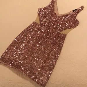 Bebe light pink sequin xs dress